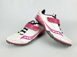Saucony Crescent Women's White And Pini Sprint Track Field Running Shoes Size 9 - $19.39