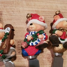 Xmas Bear Spreadables, set of 4, Christmas spreaders cheese knife, butter knives image 6