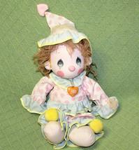 "15"" PRECIOUS MOMENTS 1985 APPLAUSE DONNY Clown Doll Plastic TAG Heart Ne... - $23.38"