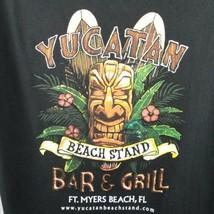 Yucatan Beach Stand Bar and Grill T-Shirt XL Black Ft Meyers Beach Tiki ... - $17.81