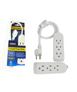1.9 FT 3 Outlet Safety Electronics Connector US Plug AC Wall Power Strip... - $5.99