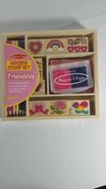 Melissa & Doug Friendship Wooden Stamp Set - Sealed - $13.86