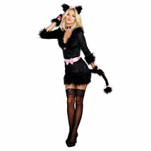 Dreamgirl Cattitude Cat Kitten Pink Bow Women Sexy Halloween Costume 10718 - $44.09+