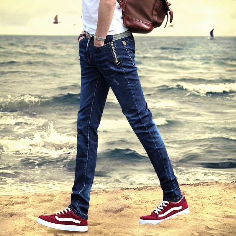Primary image for The new spring and summer men's jeans slim pants male Korean men thin youth long
