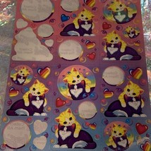 90s Lisa Frank Incomplete Sticker Sheet Kittens Bubbles Sweet Playtime S268