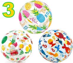 "Inflatable Beach Ball Large 20"" Colorful Kids Adult Pool Party Beach Bal... - $17.81"