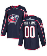 Customized columbus blue jackets men s authentic navy blue home jersey thumbtall