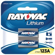 RAYOVAC RL123A-2A 3-Volt Lithium 123A Photo Batteries (2 pk) - $26.19