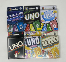 NEW Mattel UNO Retro Version Family Card Game Complete Set of 6 Series #... - $49.99