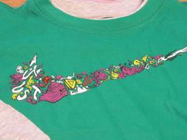 Boy's Youth 2T Nike long sleeve T shirt logo green 769281-312-EF toddler 2 T NEW image 2