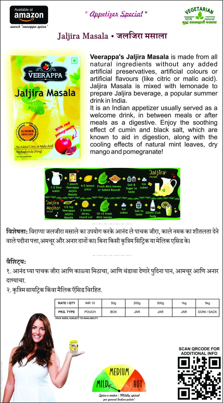 Appetizer and Seasoning Box (Pack of 4 Masala - Chai, Jaljira, Chat, Jeeravan)