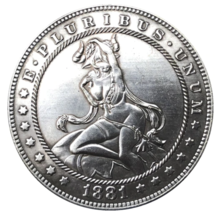 New Hobo Nickel Dollar Angel Woman Sexy Demon Lucifer Design US Casted Coin - $9.49