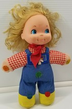 N) Vintage 1974 Mattel Love Notes Musical Squeeze Doll Plaid Farm Girl  - $19.79