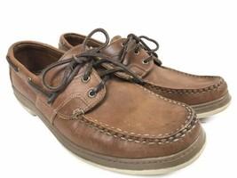 Allen Edmonds Eastport Brown Leather Boat Shoes 11D Brown - $60.00