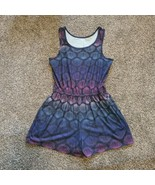 So Girls L (12) Blue Multi Shell Print ROMPER - $17.99