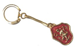 Vintage Zodiac Aquarius Bezalel Key Chain Holder Israel Souvenir Original Pack image 1