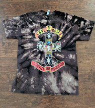 Guns N Roses Cross Bleached T Shirt, Acid Wash Tee, Heavy Metal - $15.99