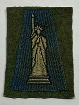 WWI, AEF, 77th INFANTRY DIVISION, PATCH, WOVEN ON WOOL, ORIGINAL, VINTAGE - $74.25
