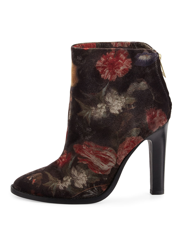 Joie Blayze Floral Velvet Bootie, Floral MSRP: $358.00 Mult Sizes
