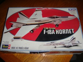 REVELL Navy F-18A Hornet No. 4500 1/48 Scale 1979 Model Airplane Kit - $24.75