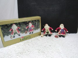 Dillard's Trimmings, Set Of Two Santa Bell Ornaments, Christmas Decoration - $14.84