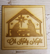 Wooden Christmas Coasters and Holiday Coasters  Nativity Scene- Set of 4 - €17,43 EUR