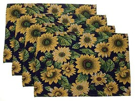 """Hickoryville Placemat Bundle - Set of 4 Flower Themed Placemats 13"""" x 19... - $18.97"""