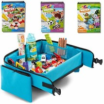 Kids Travel Tray + Bonus 3 pieces Water Books | Carseat Tray | Kids Travel Trays