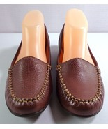 Softspots Brown Leather Loafers Women's Size 9.5 N Slip On Shoes - $39.95