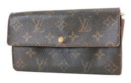 Authentic LOUIS VUITTON Sarah Long Wallet Monogram Zippered Coin Purse #... - $119.00