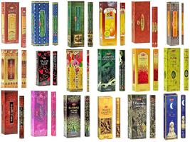 Hem Incense Sticks Natural Fragrance 6 Pack of 20 Sticks Each in a Box Free Ship - $11.72