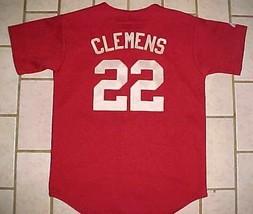 Houston Astros Roger Clemens #22 MLB Boys Brick Red Scripted Baseball Je... - $29.69