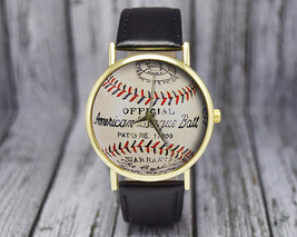 Vintage Baseball Watch | Classic Leather | Ladies / Men's Watch | Gift f... - $20.00