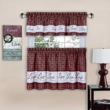 Achim Home Furnishings Achim Home Imports Live, Love, Laugh Window Curtain Tier - $29.21+