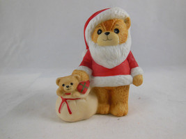 Vintage 1983 Lucy & Me Santa with Presents Bear Rigg Enesco Porcelain Figurine - $9.69