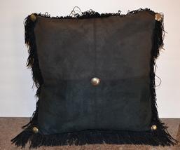 Daniel Stuart Studio Microfiber Fringed Western Pillow - Two Tone Black ... - $145.00