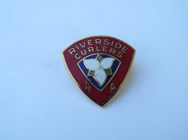 Vitnage Curling Club Pin - Riverside Curlers - Inlaid Pin - $15.00