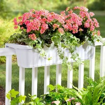 """Set of 2 Adjustable 32"""" Over the Railing Planters Outdoor Planting Boxes... - $146.67 CAD"""