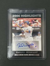 2007 Topps 2006 Highlights Autograph #HADW David Wright New York Mets Au... - $28.04