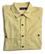 Patagonia Mens Yellow Checkered Checks Vented Camp Button Shirt Large L EUC - $49.99