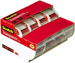 Scotch Transparent Tape, Standard Width, Great Value, Doesn't Yellow, Gr... - $22.99