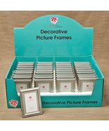 80 Decorative Brushed Silver Picture Frames with Beaded Inner Border - $100.28