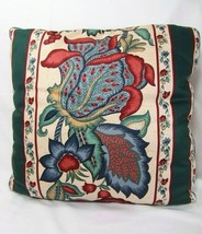 Waverly Town Hall Greenfield Jacobean Floral 16-inch Square Toss Pillow(s) - $26.00