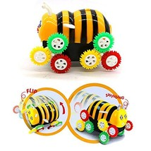 Electric Toy Cars Cute Bee Stunt Cars with 12 Power Wheels Skip Automati... - $8.80