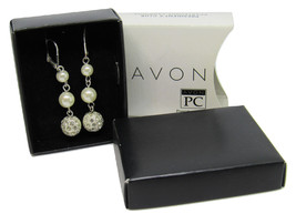 Avon 2011 President's Club Pearlesque Earrings Dangle Leverback image 3