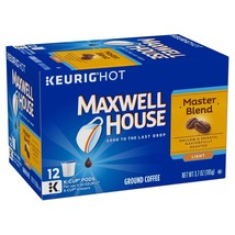 Maxwell House Master Blend Coffee, Light Roast, K-CUP Pods, 12 count 3.7... - $8.88