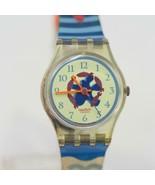Vintage Ladies Swatch Watch Red Cloud LK134 1992 - $34.64