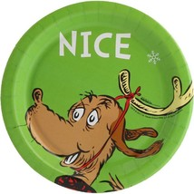 Dr Seuss Nice Christmas Dessert Cake Plates 8 Count Party Supplies New - $5.89