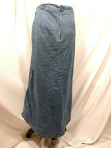 Vtg RT JEANS CO Denim Skirt Long Modest Sz 34 Fits Small Medium Blue Jean Maxi image 6