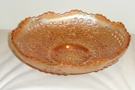 Vintage Fenton Carnival Marigold Leaf Chain Berry Pattern Dish - $29.00